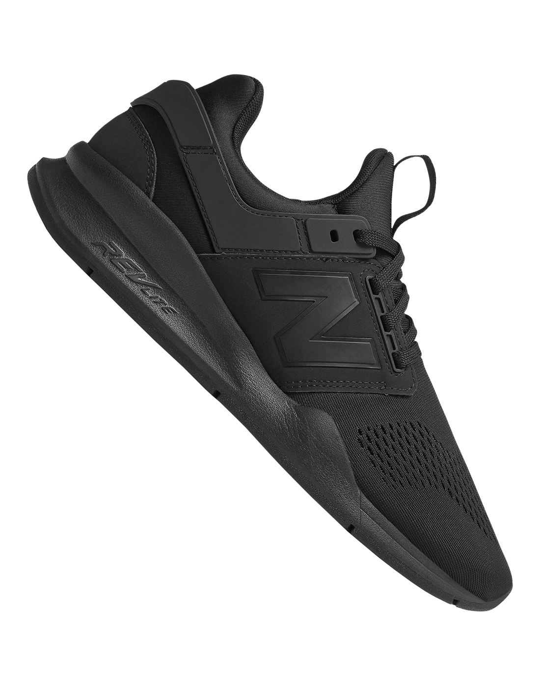 new balance black trainers mens