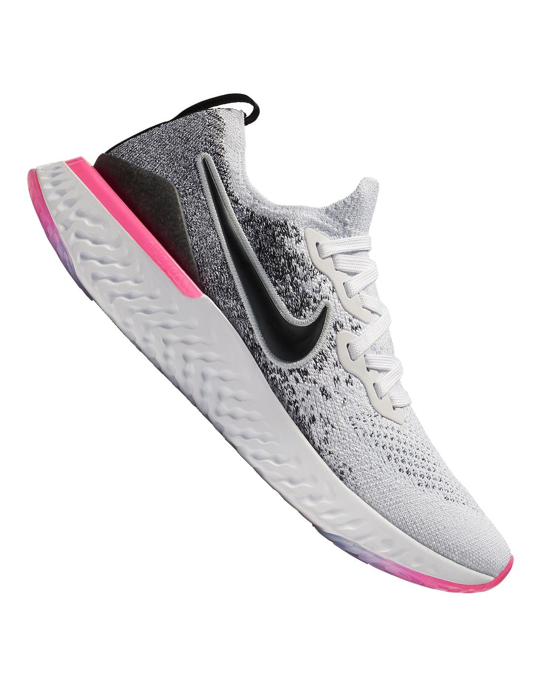 Grey \u0026 Pink Nike Epic React Flyknit