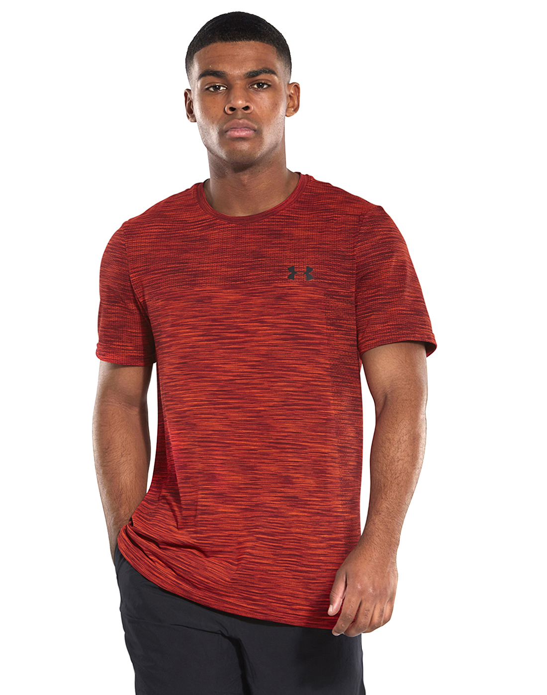 010abdc05d Men's Red Under Armour Seamless Gym T-Shirt | Life Style Sports