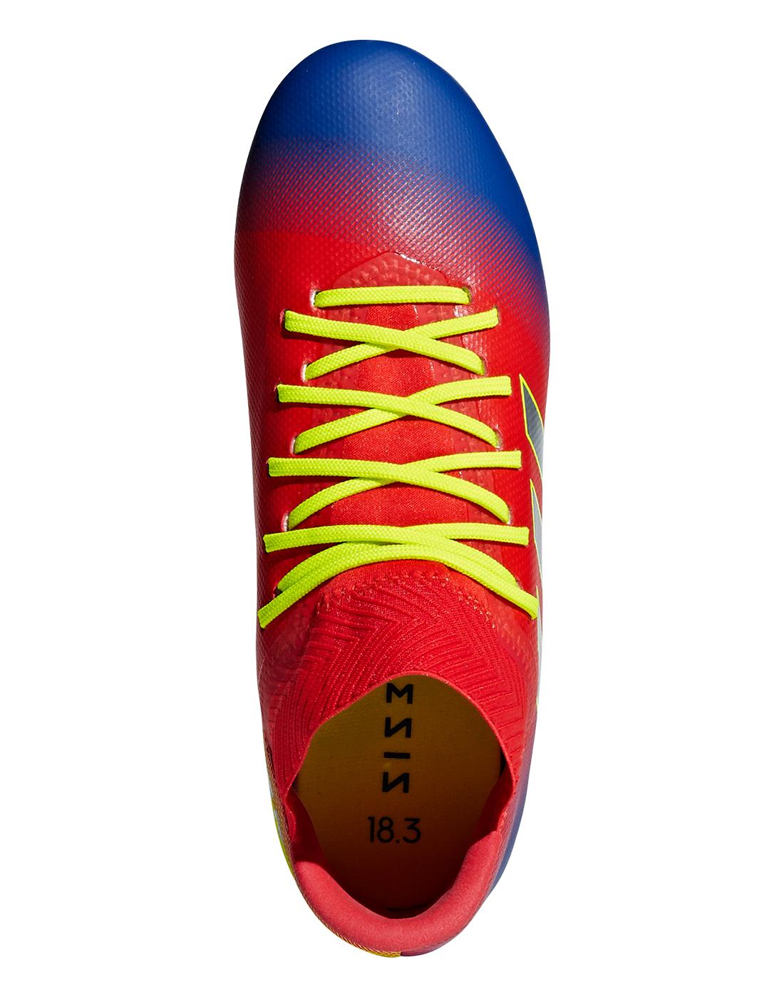 35f9cb7cc Kid's Blue & Red adidas Nemeziz 18.3 | Initiator Pack | Life Style ...