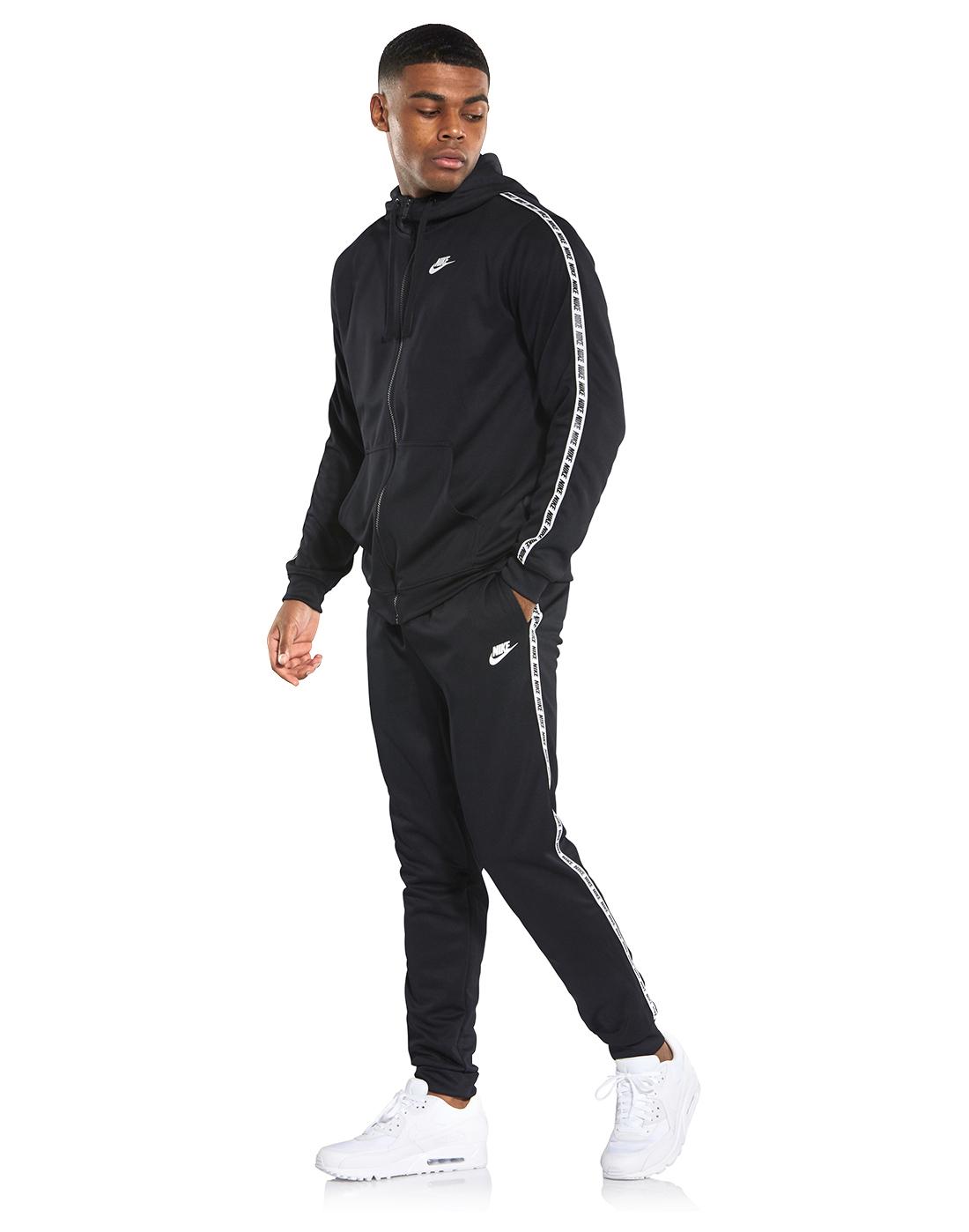 23f1b5b0e Men's Black Nike Taped Poly Pants   Life Style Sports