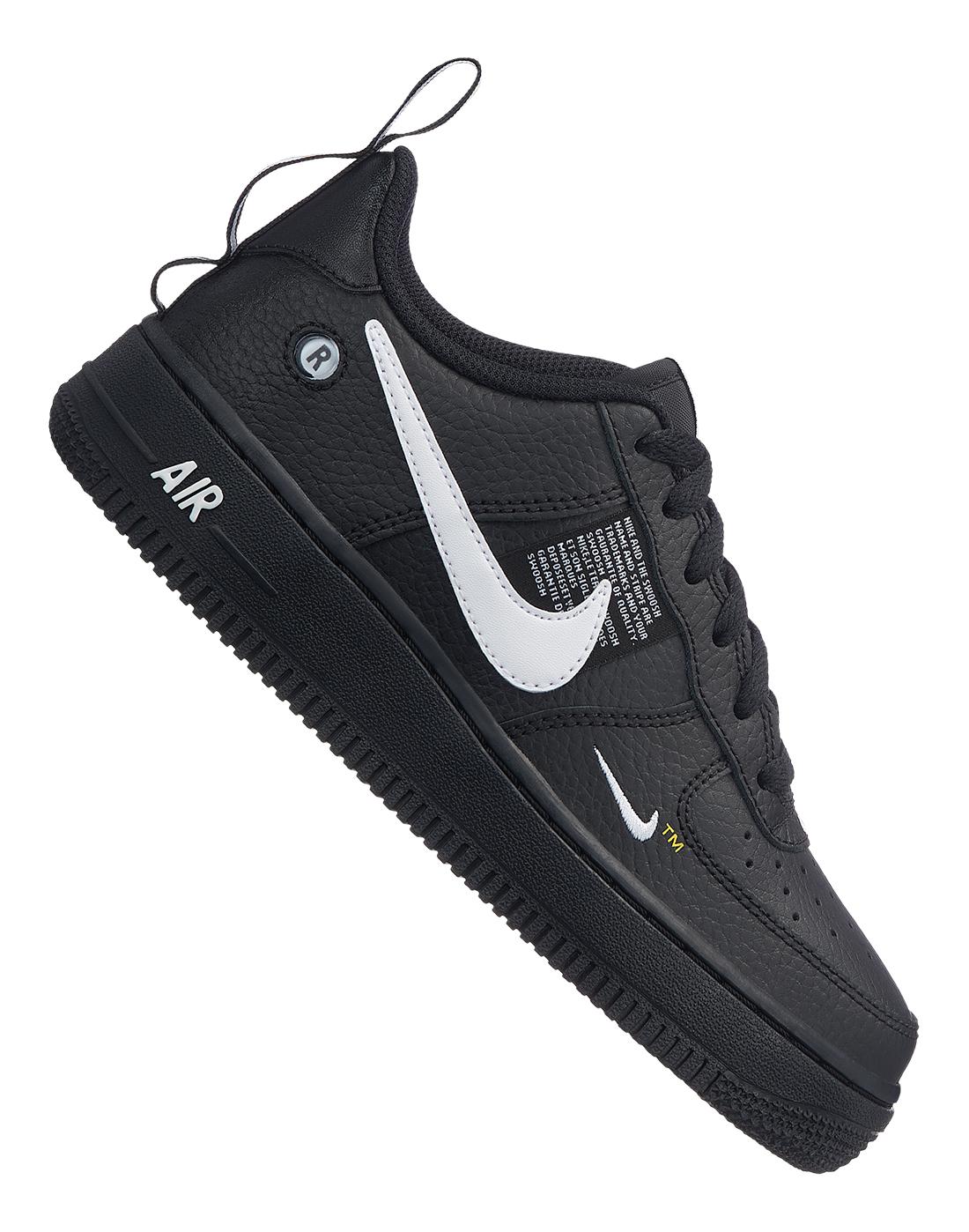 Boy's Black Nike Air Force 1 Utility