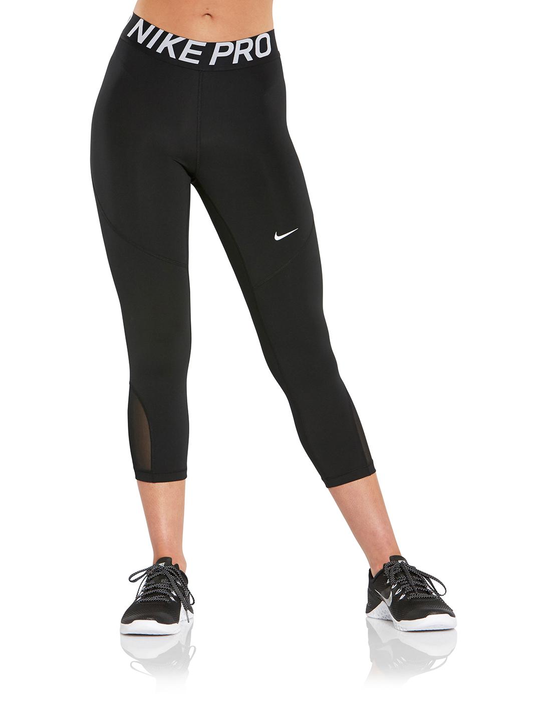 f18833072922c Women's Black Nike Pro Capri | Life Style Sports