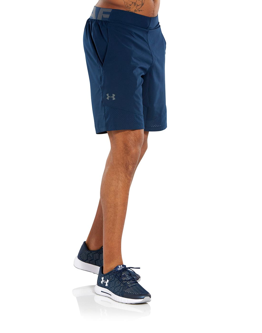587e1e41fb1ec Men's Navy Under Armour Woven Gym Shorts   Life Style Sports