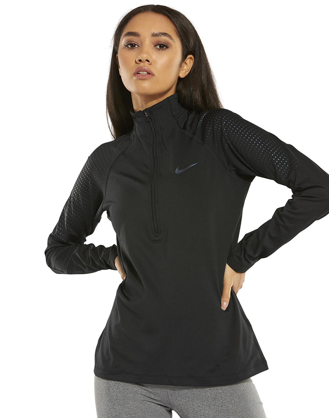 ee335fc1ce2e Women s Navy Nike Half Zip Gym Top