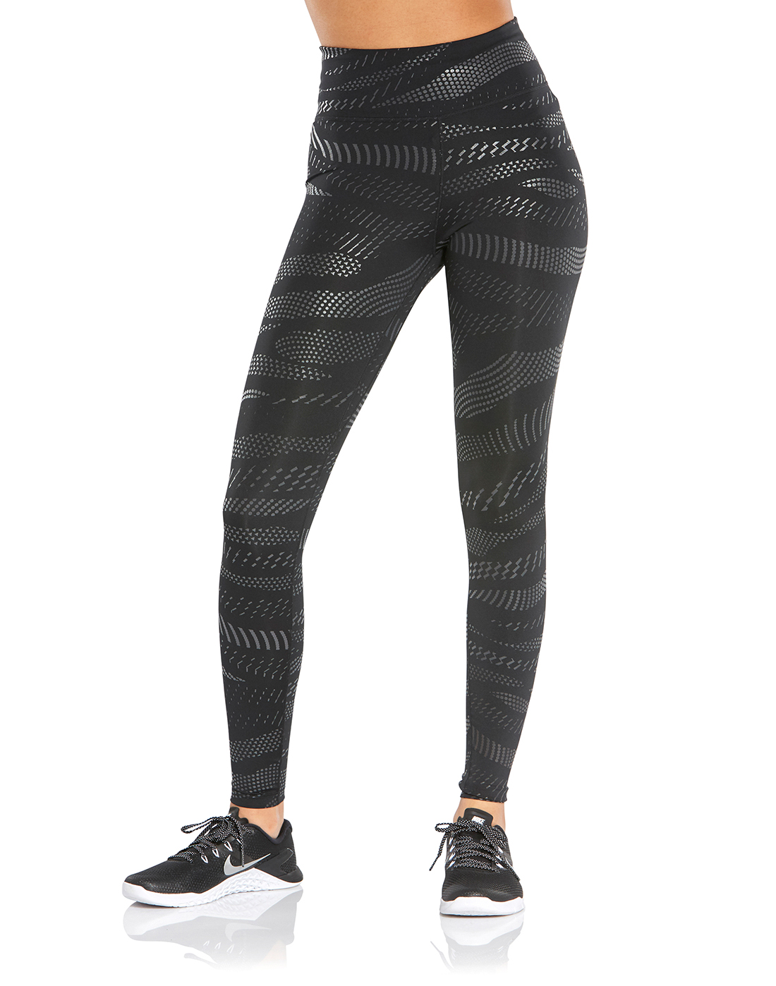 9fea09b695 Women's Black Nike One Print Gym Tights | Life Style Sports