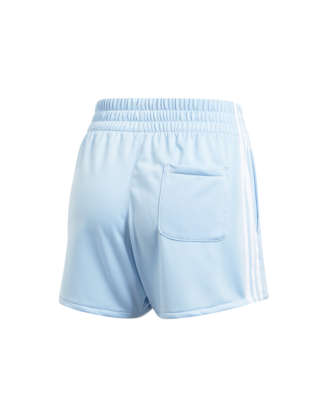 Adidas Originals Womens 3 Stripes Shorts Blue Life Style Sports Ie