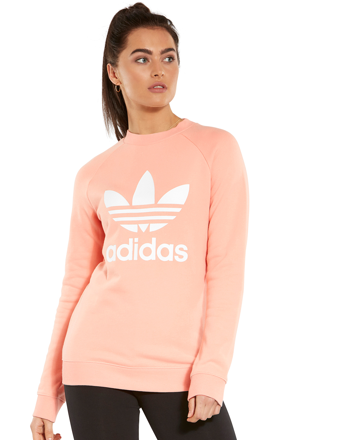 06a4909c2bad adidas Originals. Womens Trefoil Crew Sweatshirt. Womens Trefoil Crew  Sweatshirt ...
