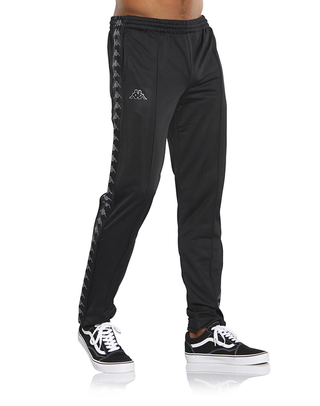 b66f127ddb0 Men's Black Kappa Track Pants | Life Style Sports