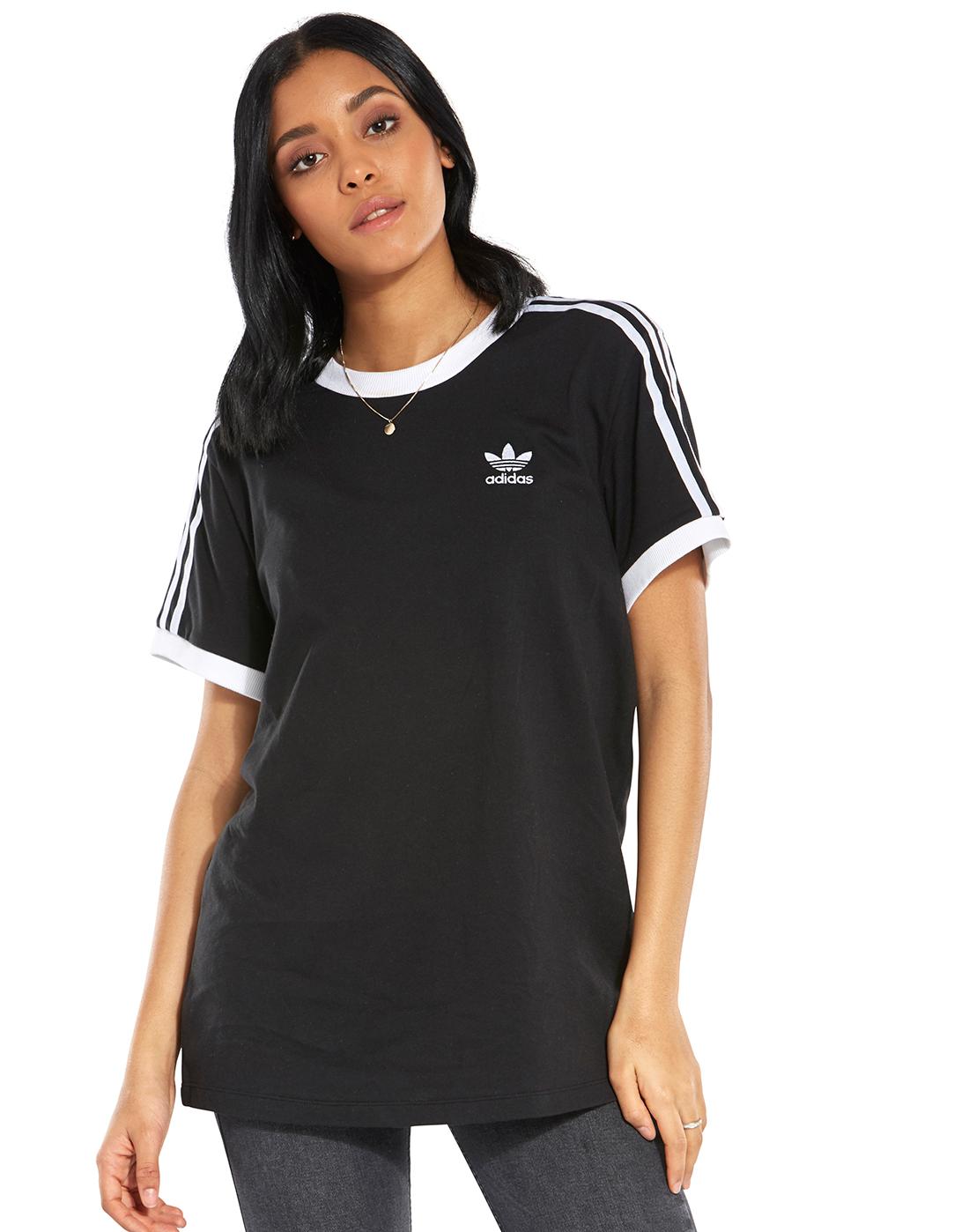 womens adidas black t shirt