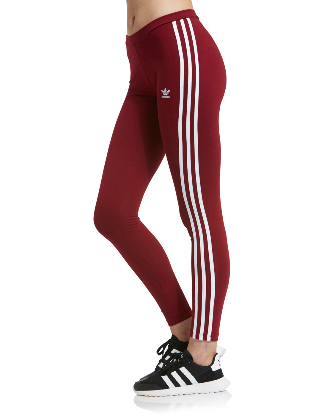 jurado templar Moderar  adidas Originals Womens 3 Stripe Legging - Burgundy | Life Style Sports IE