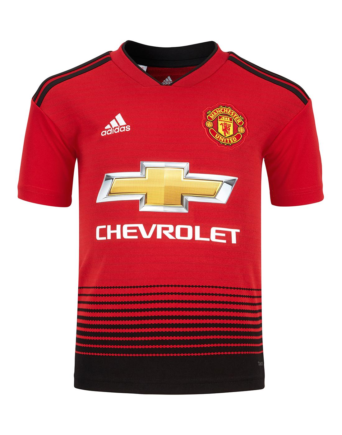 5b36f7d448b Kids Man United 18 19 Home Jersey