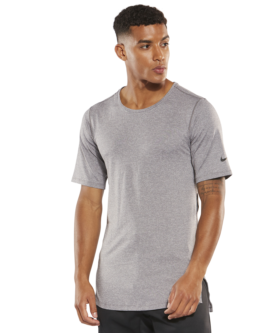 9851871c Men's Nike Fitted Performance T-Shirt | Grey | Life Style Sports