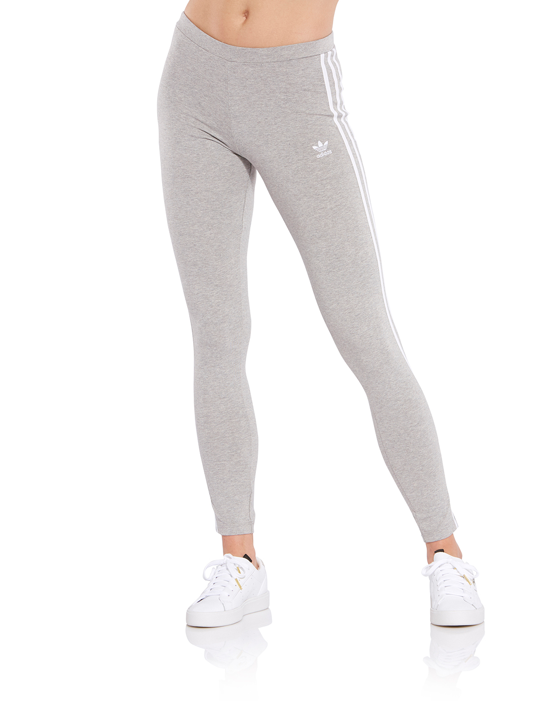 prosperidad computadora felicidad  Women's Grey adidas Originals 3 Stripe Leggings | Life Style Sports