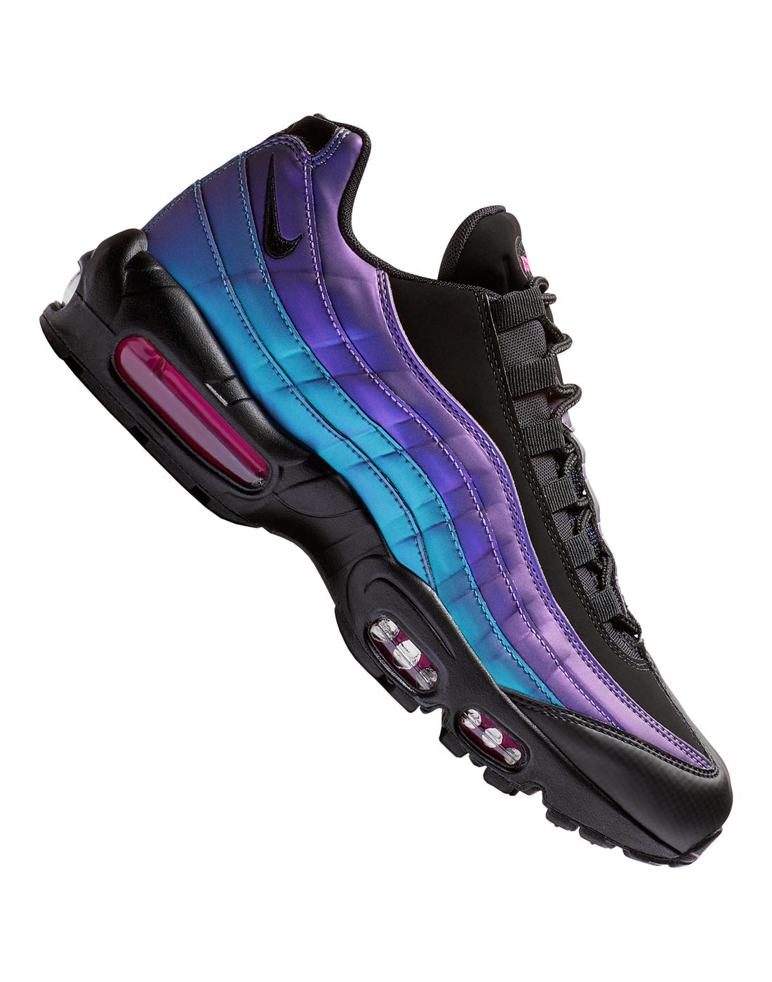 d0f75f3309788 Men's Black & Blue Metallic Nike Air Max 95 | Life Style Sports