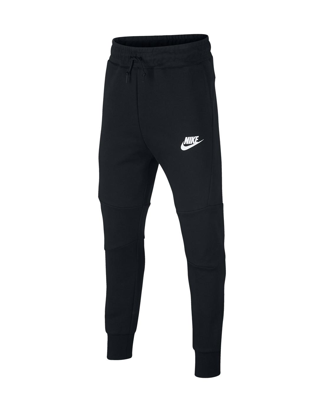 6d22c058e93a1 Boy's Black Nike Tech Fleece Pants   Life Style Sports