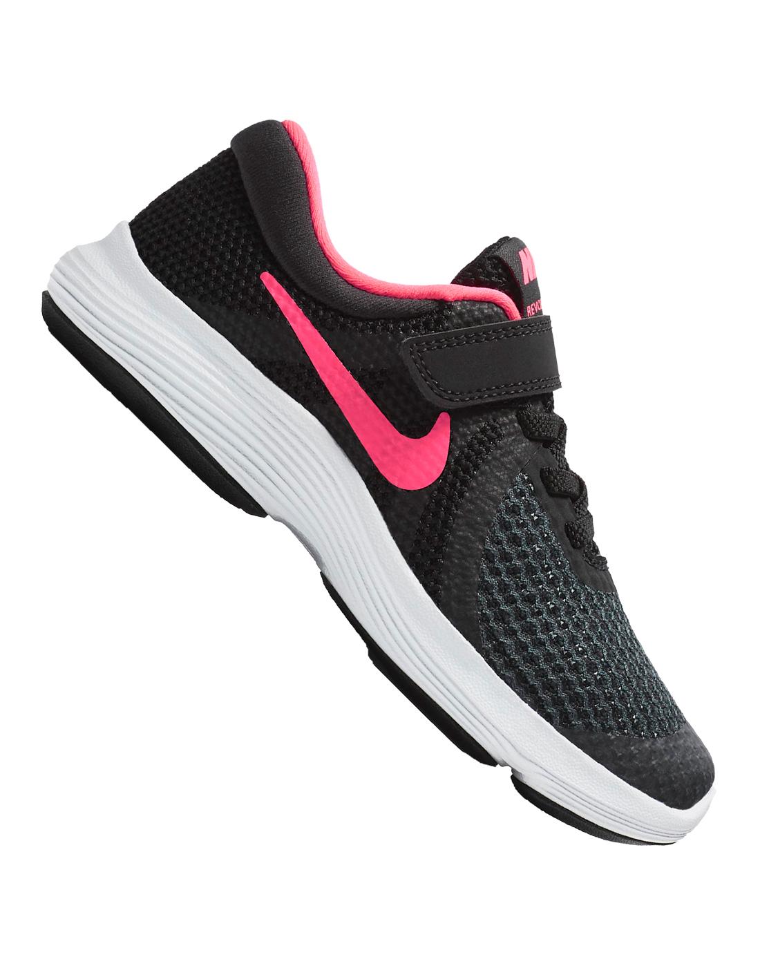 Young Girls Nike Revolution   Black