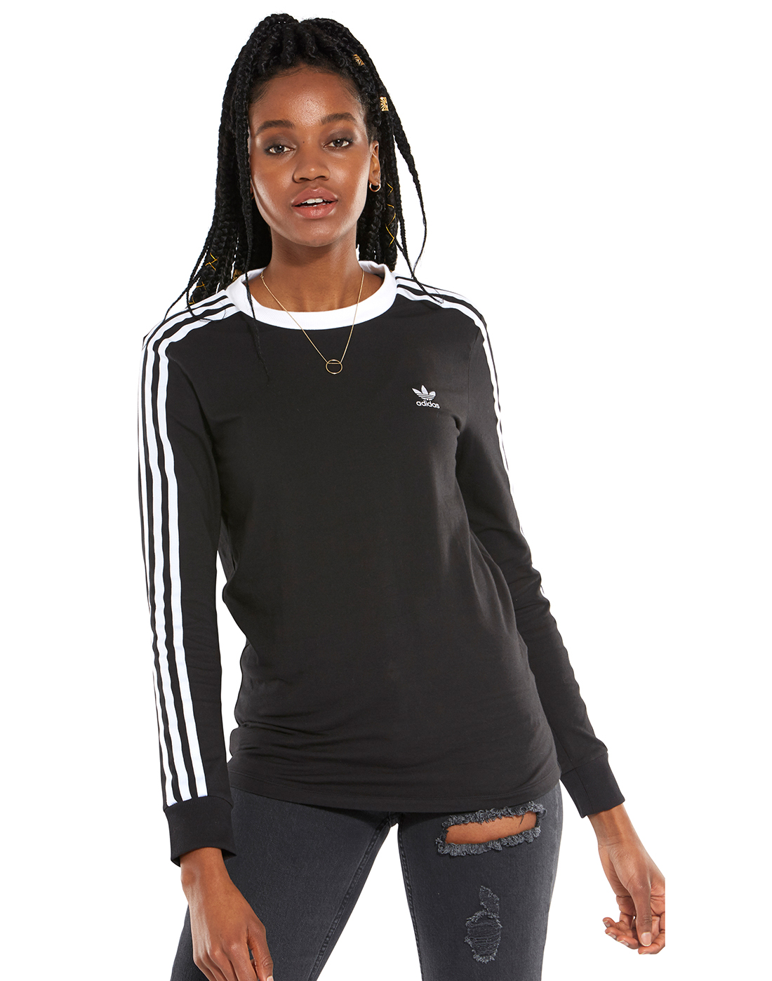 e2c71b28e Women's Black adidas Originals Long Sleeve T-Shirt | Life Style Sports
