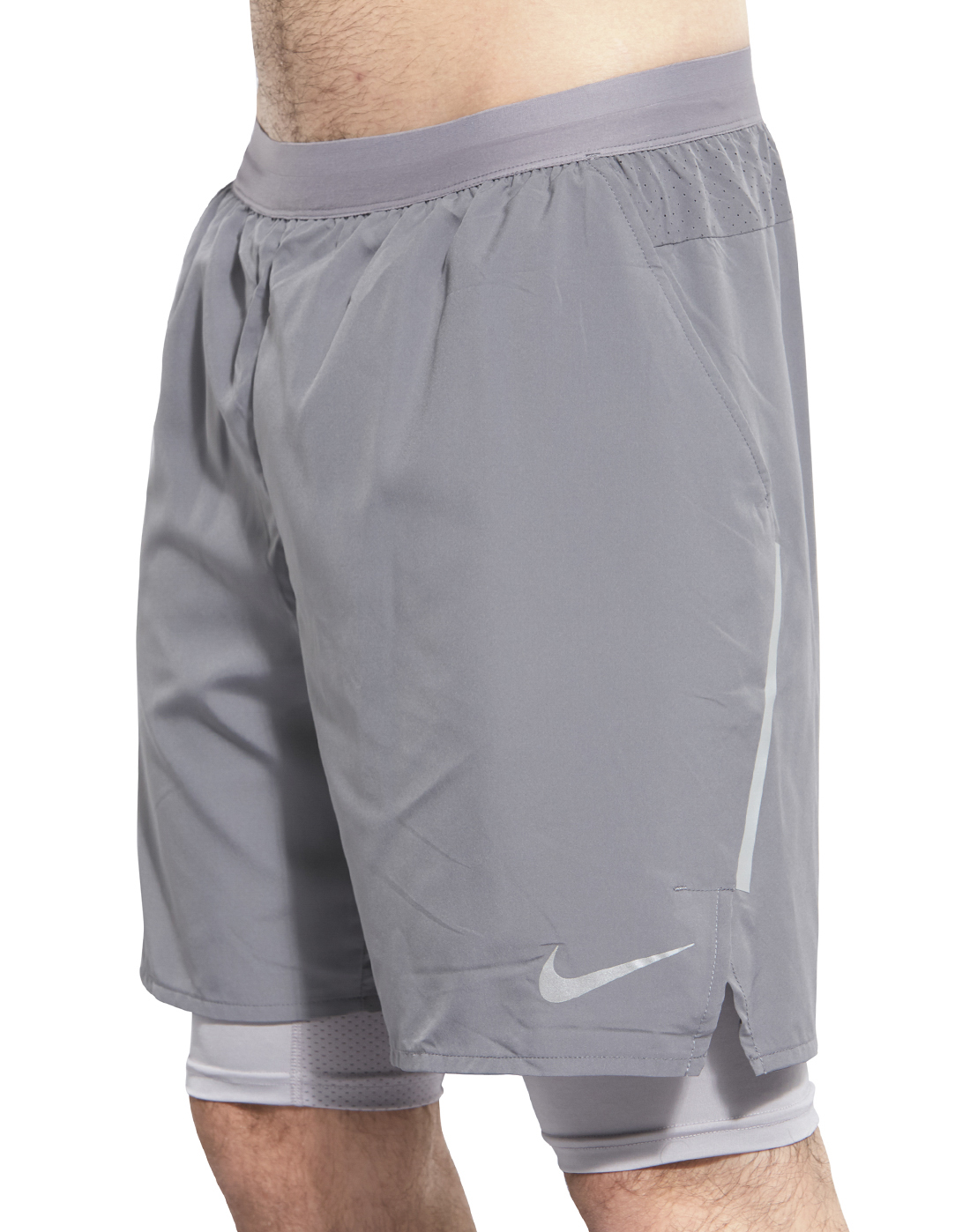 Men's Grey Nike 2 In 1 Running Shorts | Life Style Sports