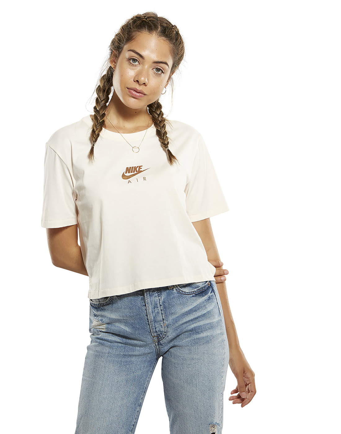 a45c8e21b Women's Nike Air Crop T-Shirt | Cream | Life Style Sports