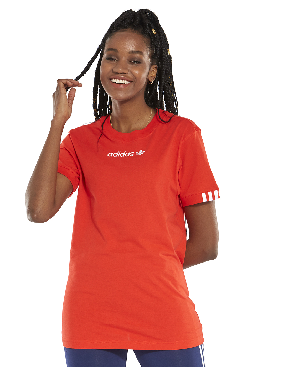 ce27e57d7f4 Women's Red adidas Originals Coeeze T-Shirt | Life Style Sports
