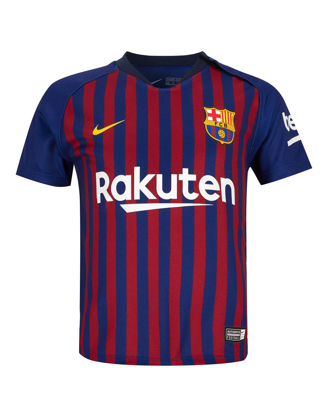 promo code acdfe 8eea9 Nike Infants Barcelona 18/19 Home Kit