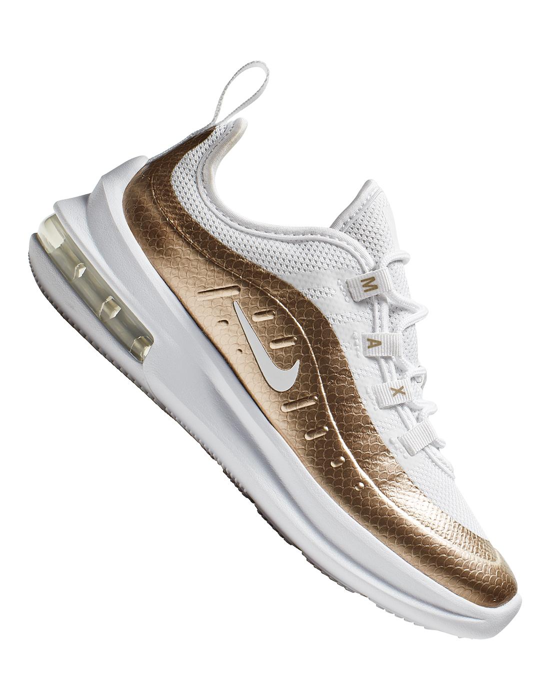 White \u0026 Gold Nike Air Max Axis