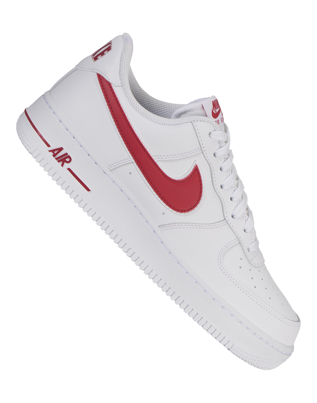 698988a24a9a8 Men's White & Red Nike Air Force 1 | Life Style Sports