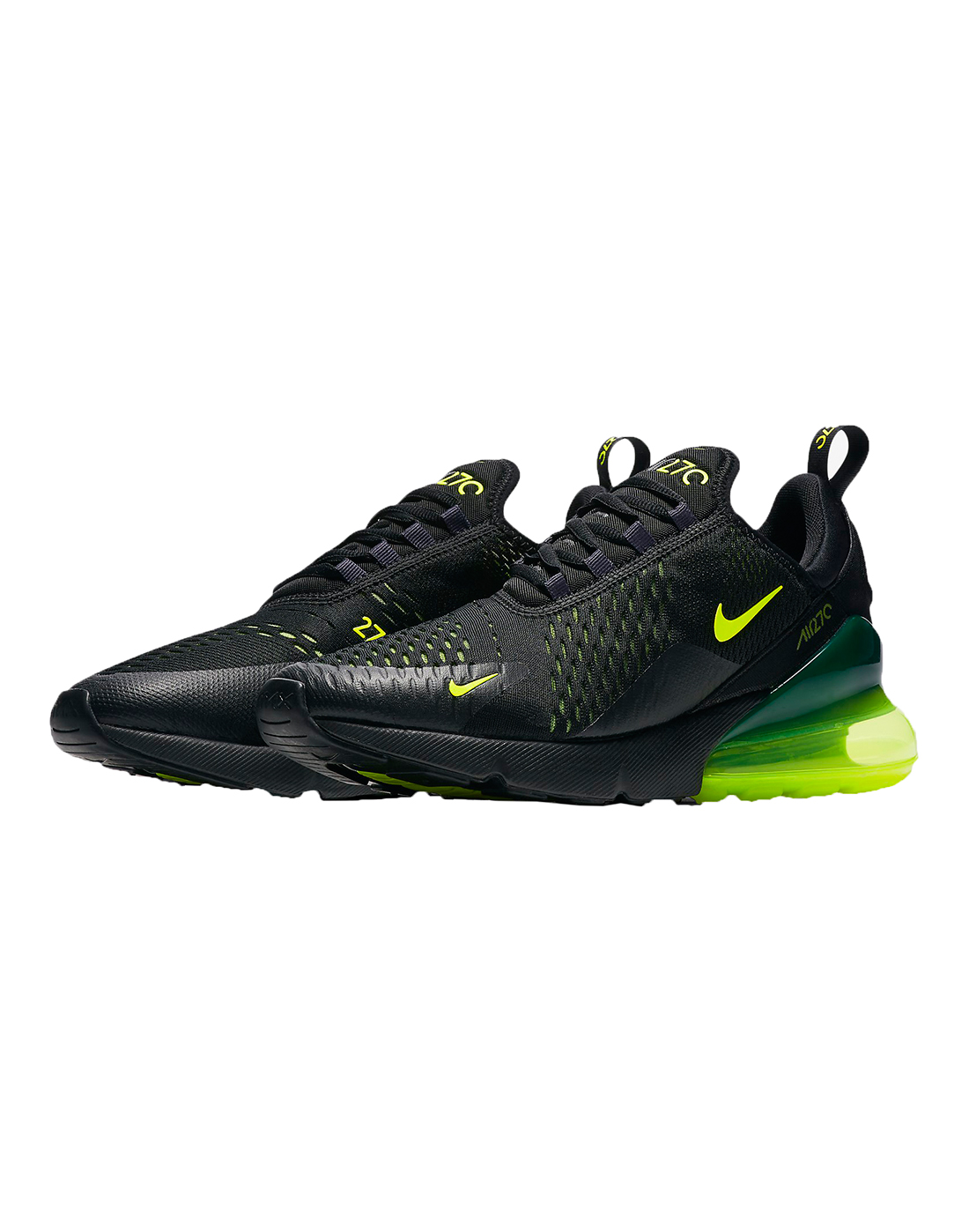 98d3dd0ee Men's Black & Neon Green Nike Air Max 270 | Life Style Sports