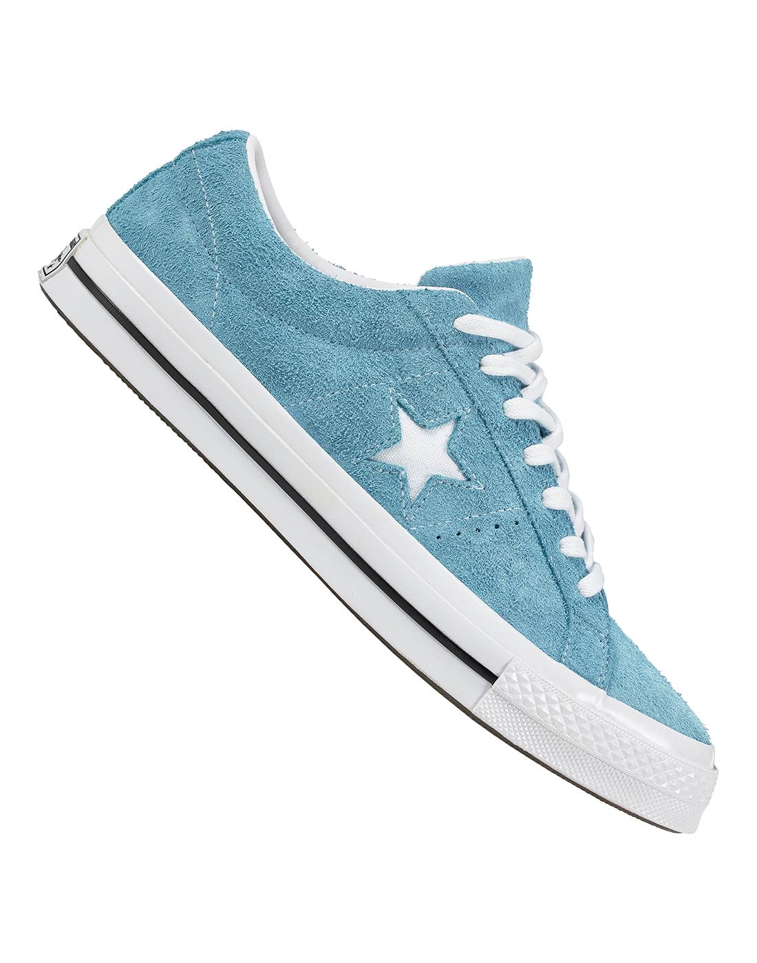 Women's Blue Converse One Star   Life