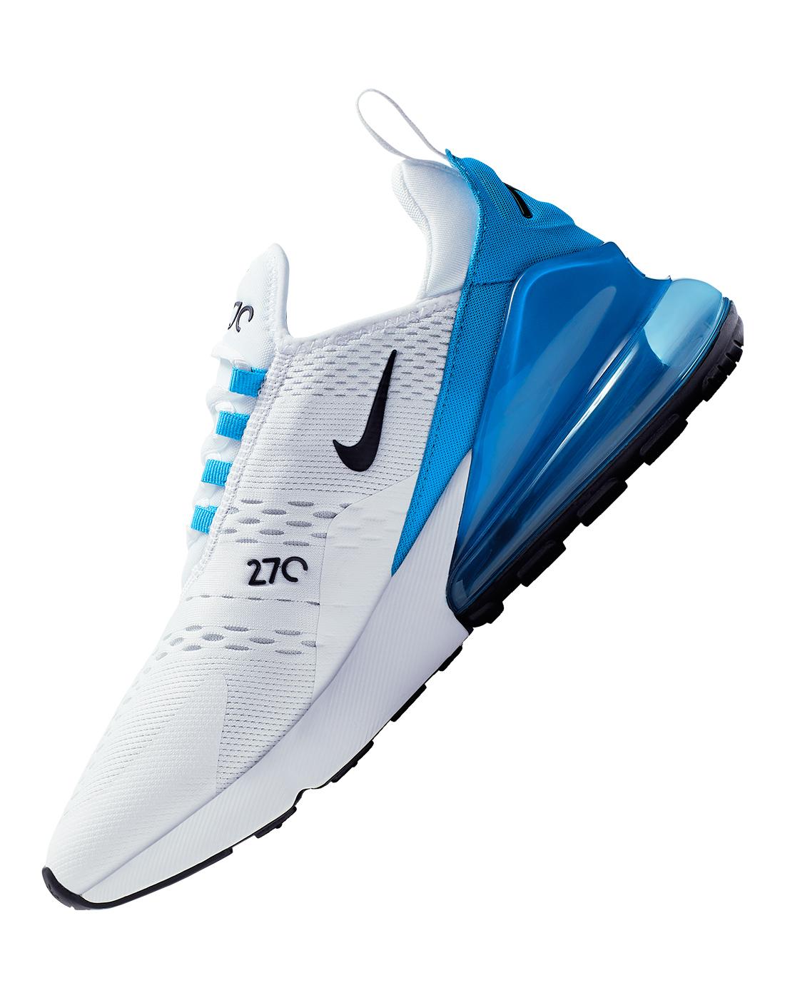 Details zu Nike Air Max 270 AH8050 110 Turnschuhe Weiß Blau