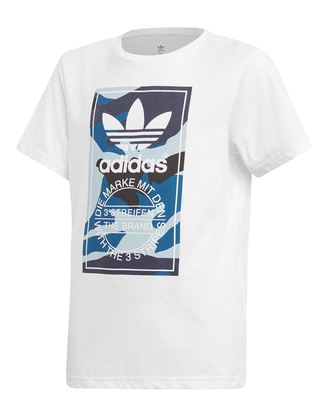 c9b91f4d5 adidas Originals Older Boys Camo Box T-Shirt | Life Style Sports