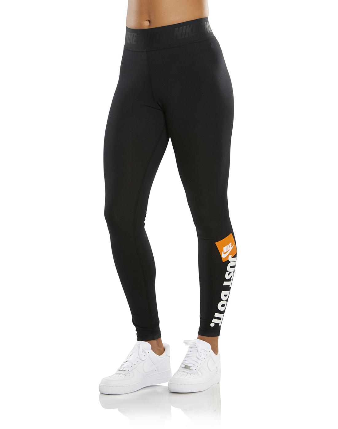 official images coupon code wholesale dealer Women's Black Nike 'Just Do It' Leggings | Life Style Sports