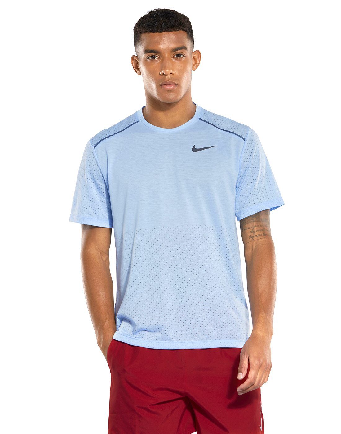 a5bed9149 Men's Light Blue Nike Running T-Shirt | Life Style Sports