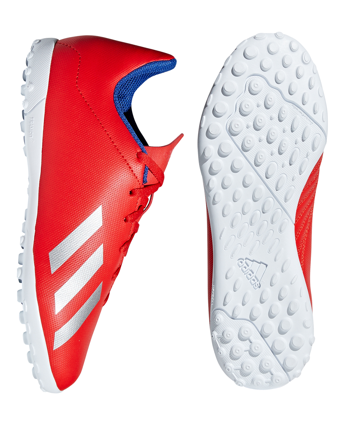 fa81a3f52 Kid's Red & White adidas X 18.4 Astro Boots   Life Style Sports
