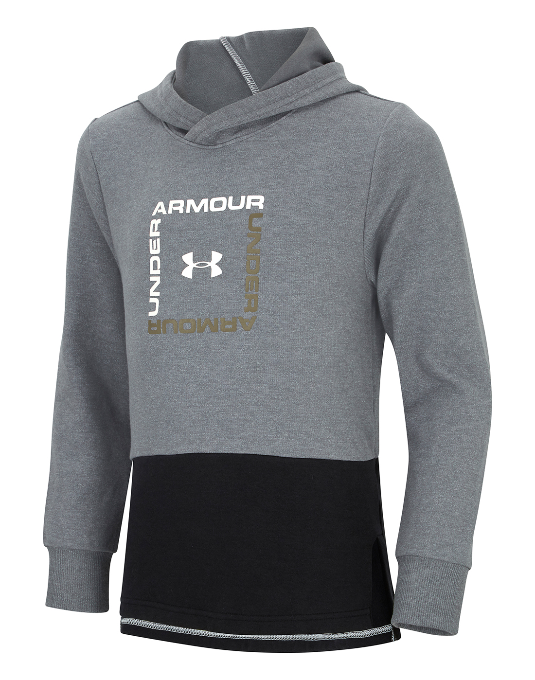 34a12d2c7249 Boy s Grey Under Armour Double Knit Hoodie