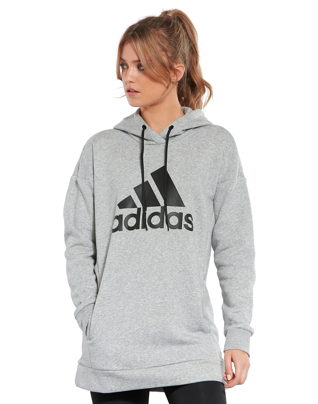 55cddc4697d7 Women's Grey adidas Hoodie | Life Style Sports