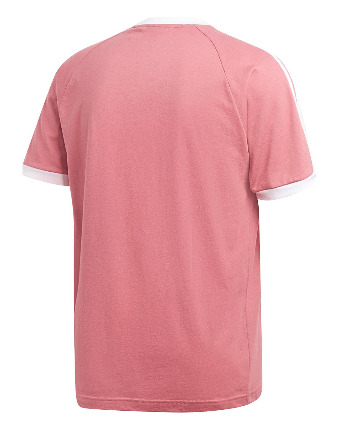 7d566a386b248a Men's Light Red adidas Originals 3-Stripe T-Shirt | Life Style Sports