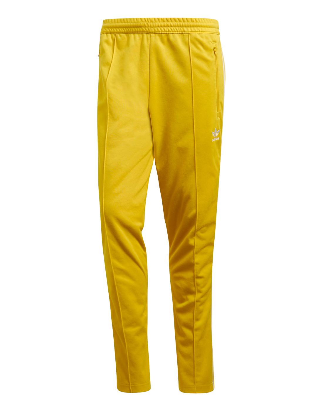 80cd56344518 Men s Yellow adidas Originals Beckenbauer Track Pants