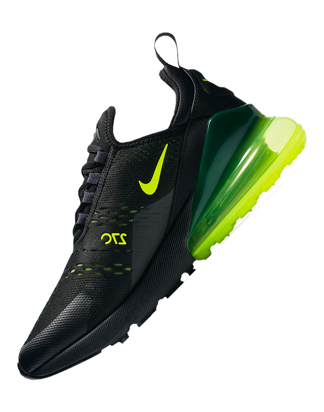huge selection of 6f315 fabf1 Men's Black & Neon Green Nike Air Max 270 | Life Style Sports