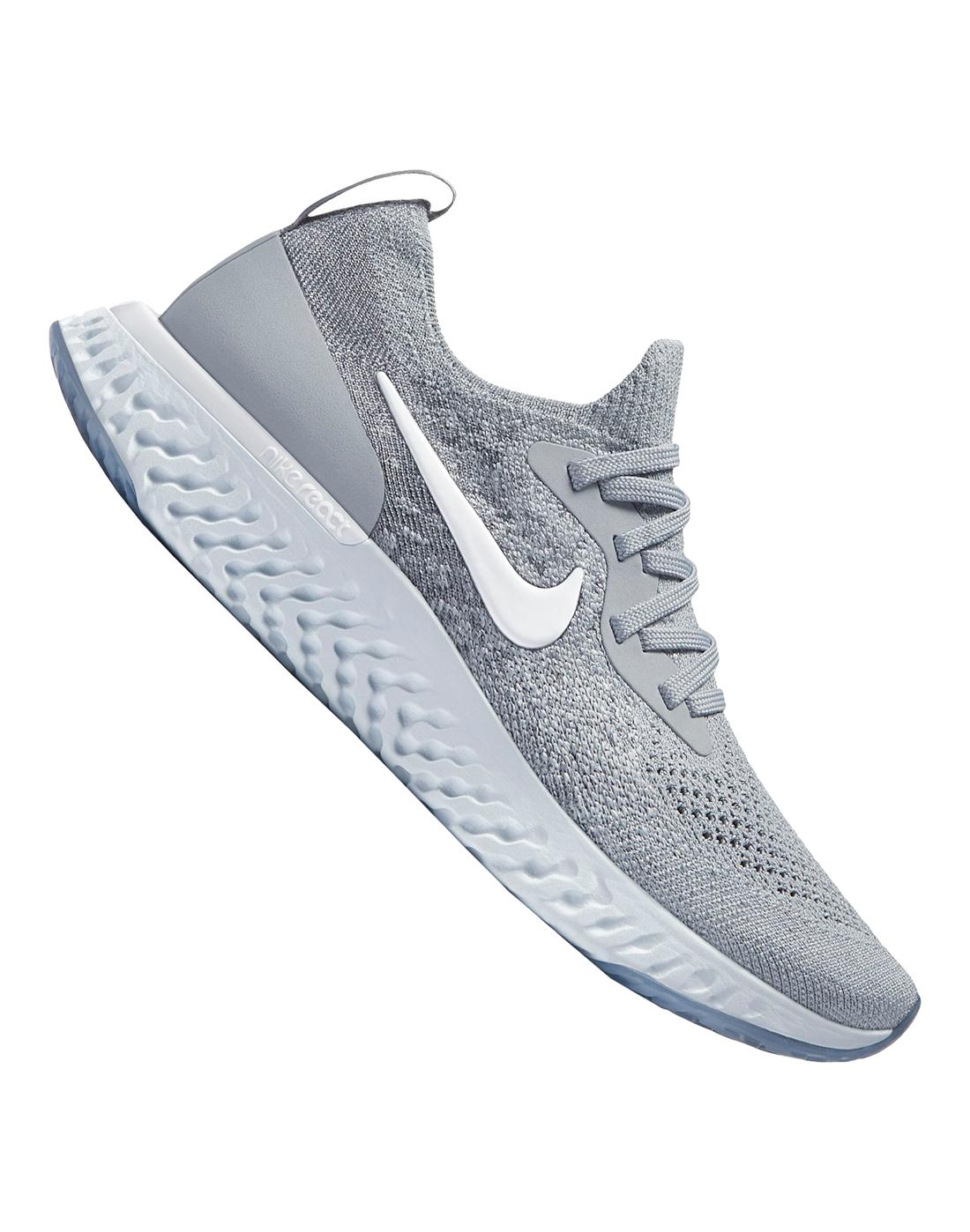 ae8fbd0444b Kids Grey Nike Epic React Flyknit