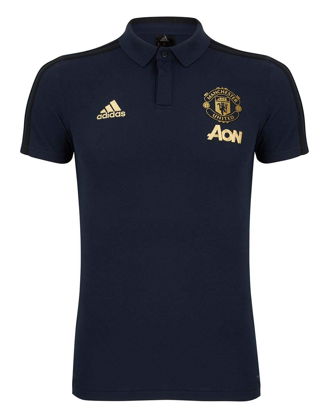 Man United European Training Polo T Shirt Life Style Sports