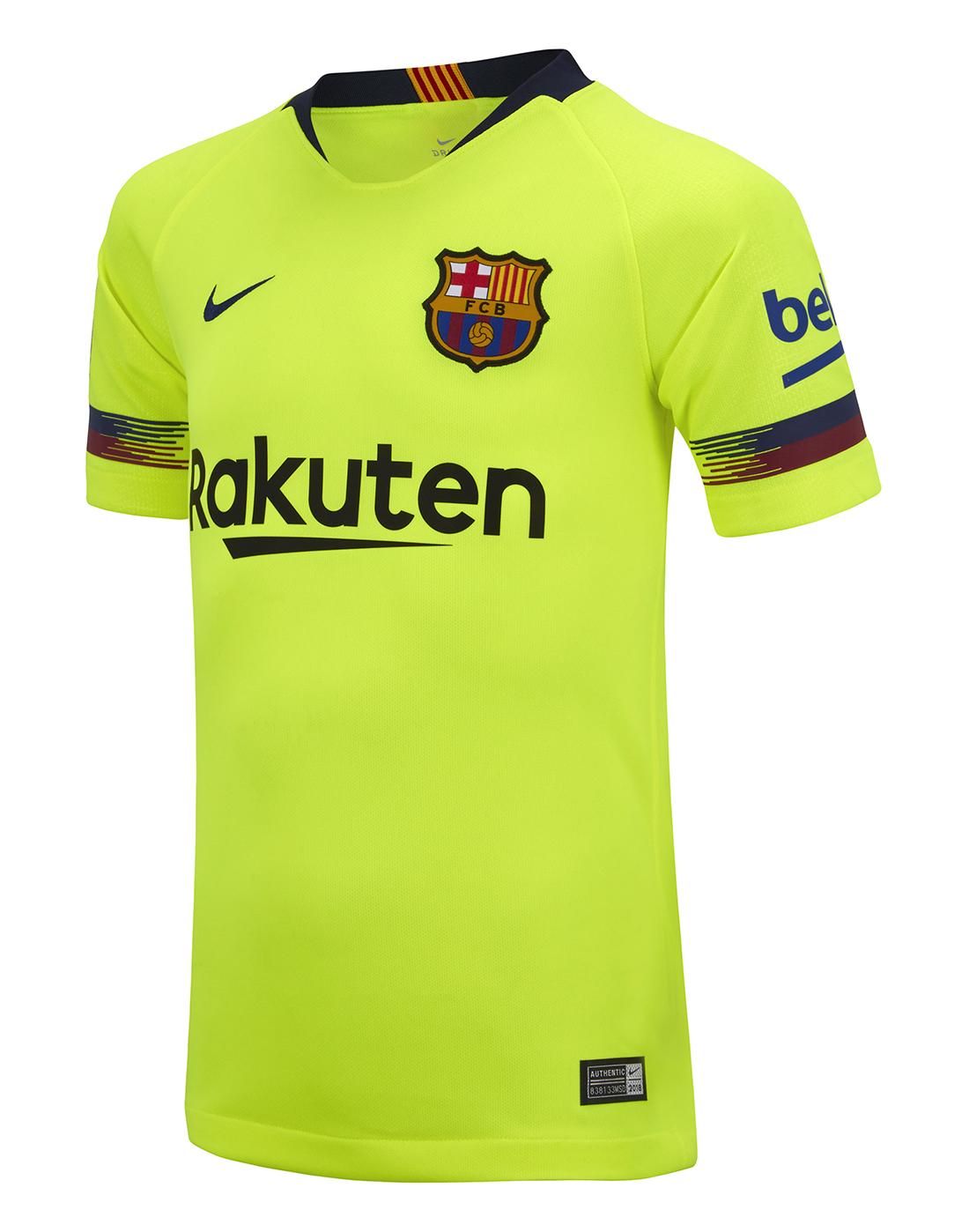 5f312a61c ... Kids Barcelona Away 18 19 Jersey ...