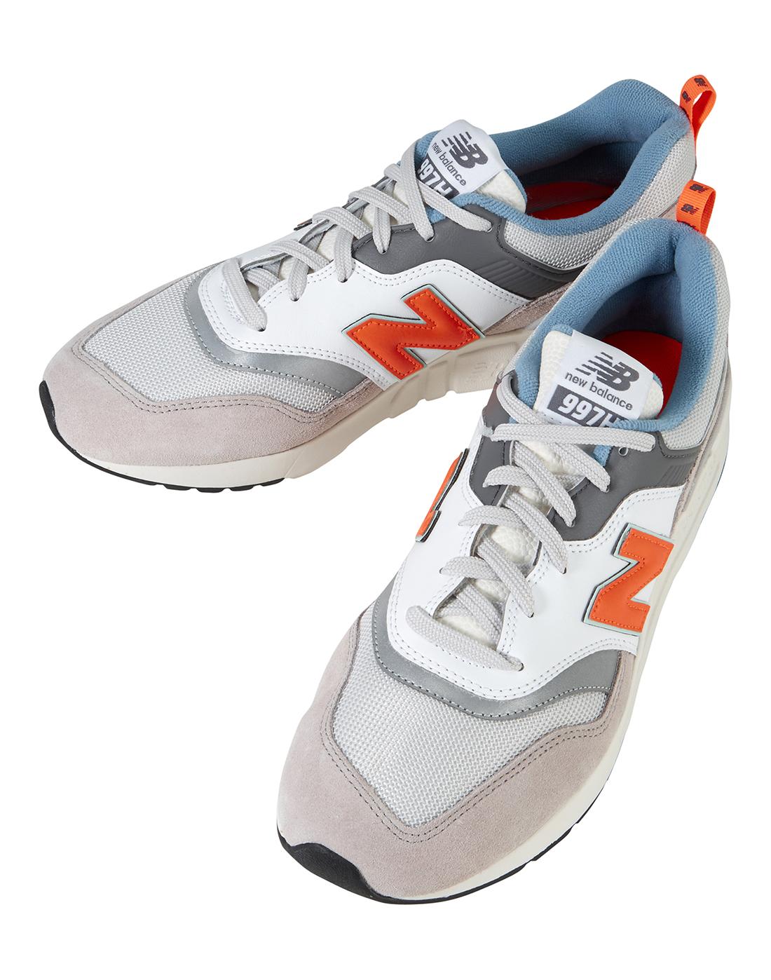 ecc94ef304031 Men's Grey & Orange New Balance 997 Trainer | Life Style Sports