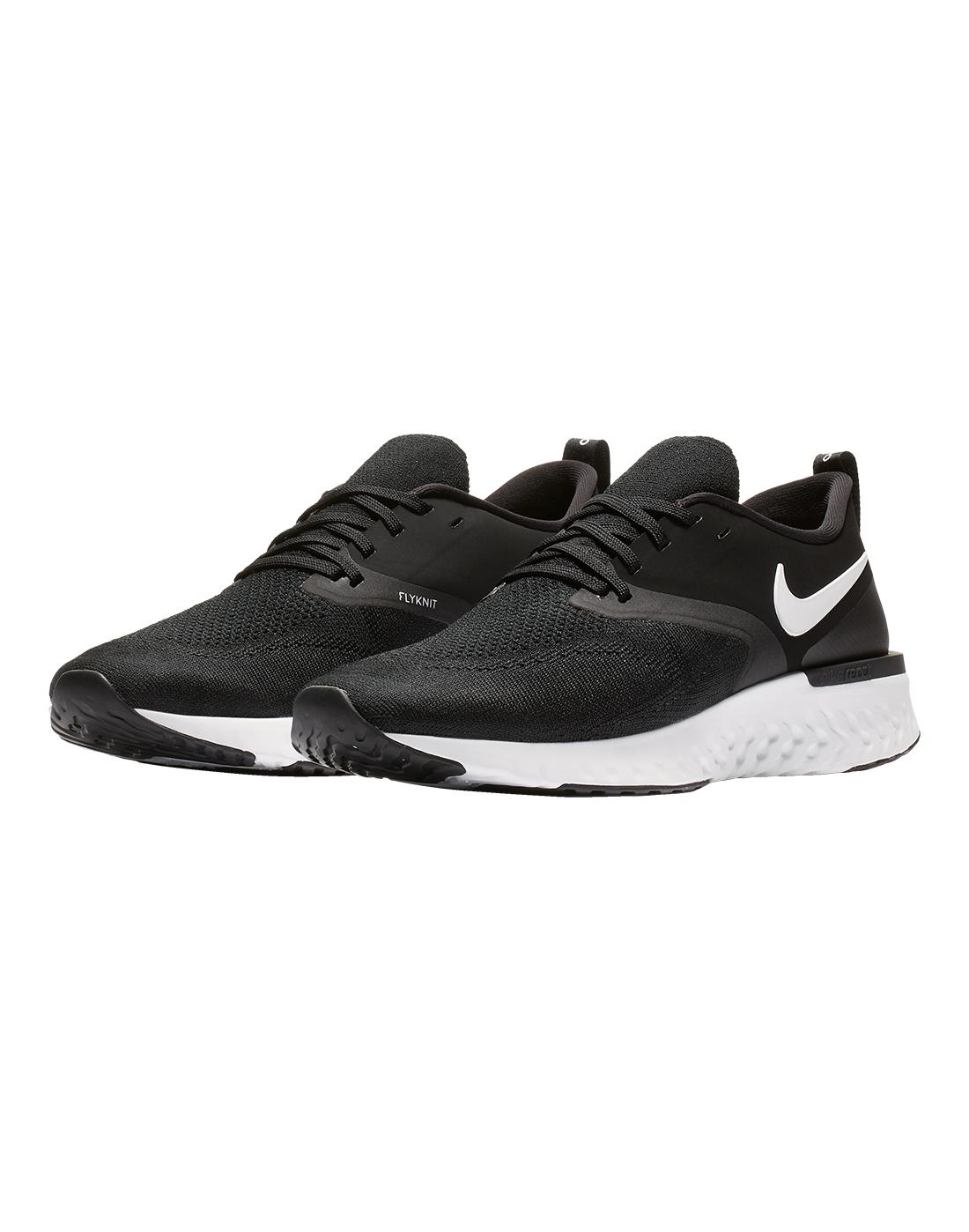 28b081240436 Men s Black   White Nike Odyssey React Flyknit