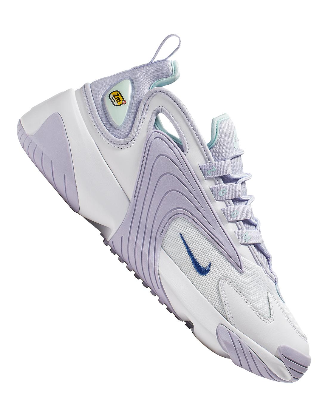 2585b0401e73 Women s White   Lavender Nike Zoom 2K