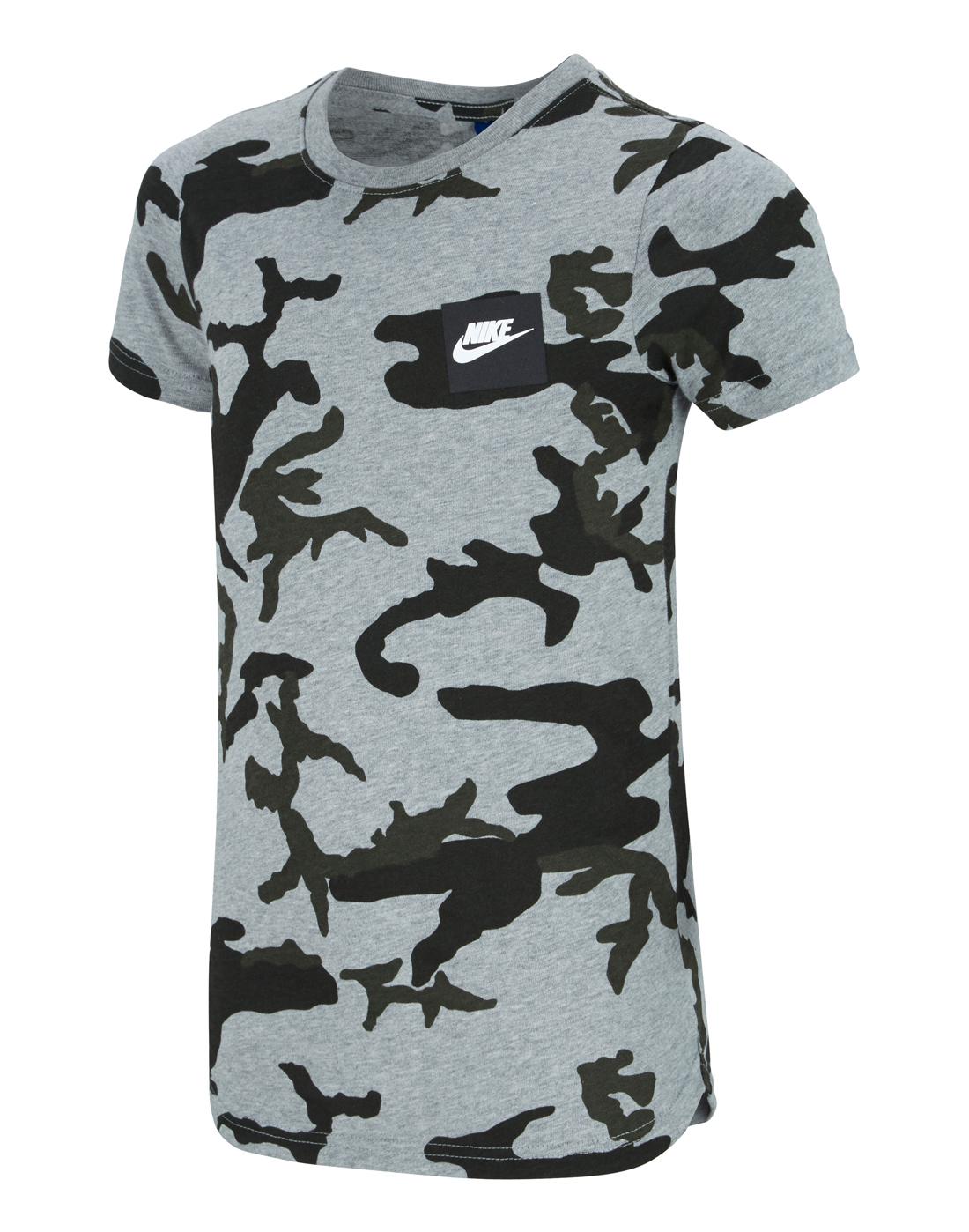 b9aba261f Nike Older Boys Camo T-Shirt | Grey | Life Style Sports