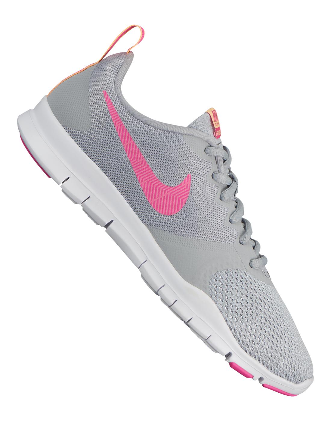 3e1484d15af6 Women s Grey   Pink Nike Flex Essential Trainer