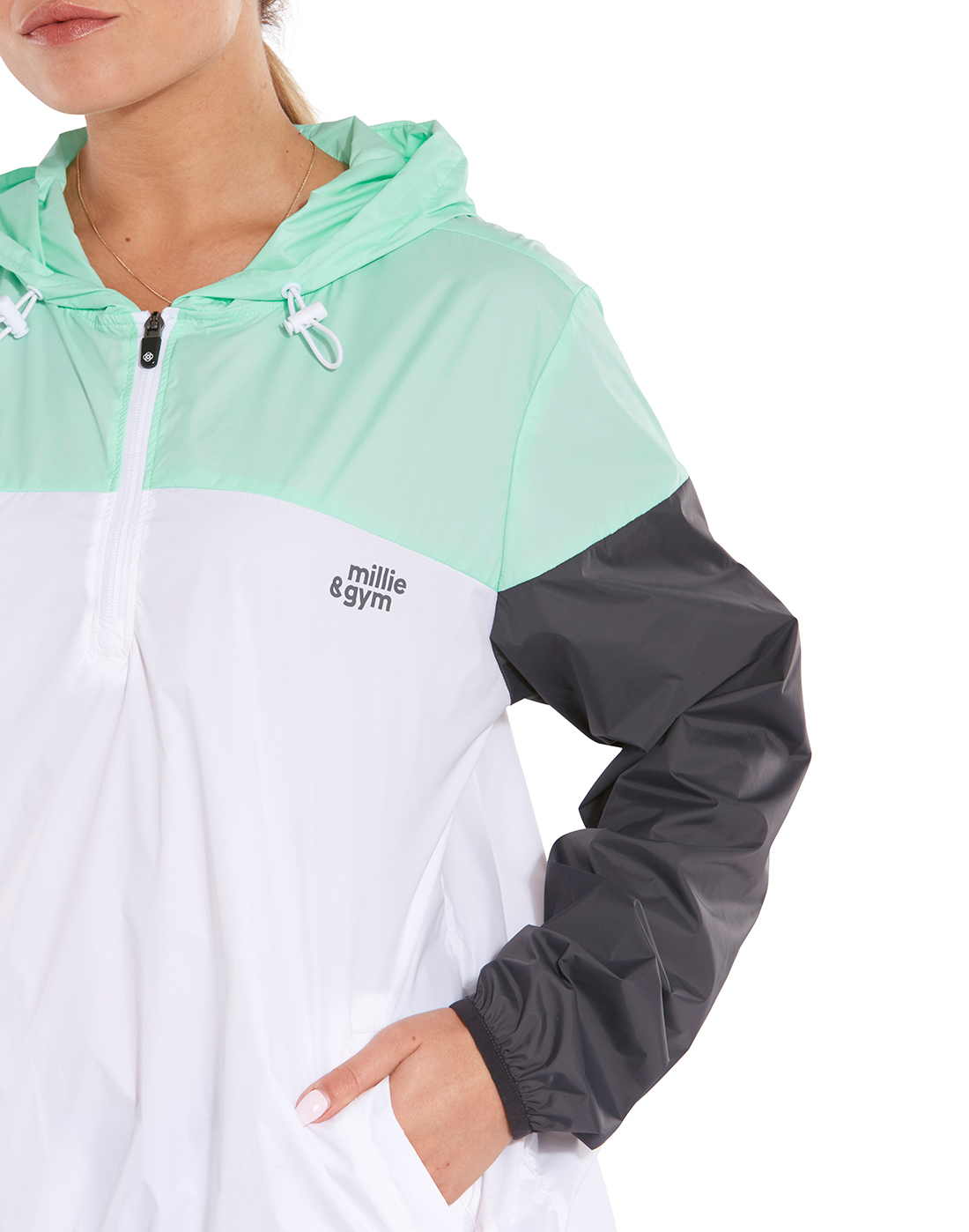 3a785ea8c White & Mint Green Millie & Gym Jacket | Life Style Sports