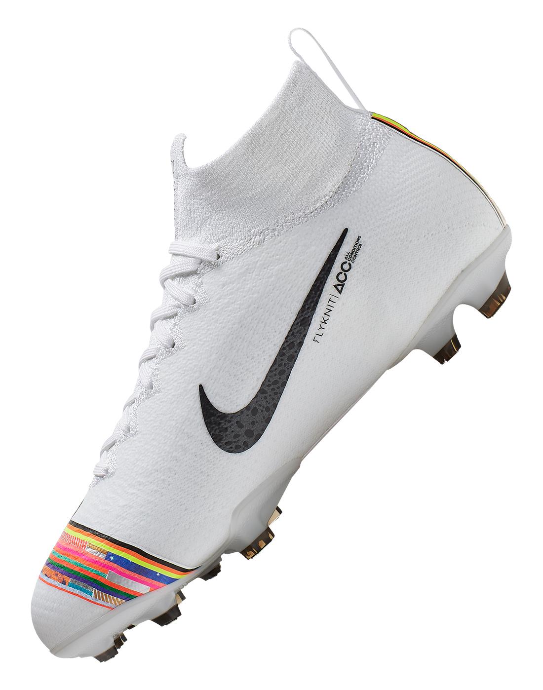 bea50be18 Kid s White Multi-coloured Nike Mercurial Elite CR7